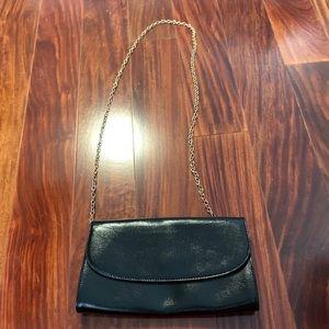 Halogen Black Clutch Wallet on a Chain Nordstrom